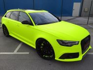 BB Folien Fluorescent Neon Folierung Audi RS6 C7 Avant Tuning 7 190x143 Fluorescent Neon Folierung am Audi RS6 C7 Avant by BB Folien