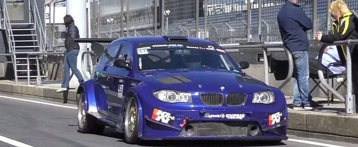 BMW 140i Racecar BMW M3 V8 S65 Widebody Kit Tuning 1 Video: BMW 140i Racecar mit BMW M3 V8 Power & Widebody Kit