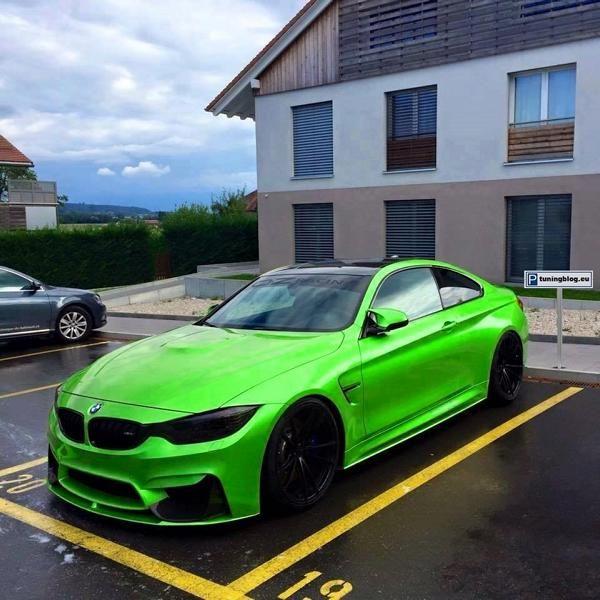 BMW M4 F82 Neongr%C3%BCn Folierung tuningblog.eu  BMW M4 F82 Coupe Neongrün Folierung by tuningblog.eu