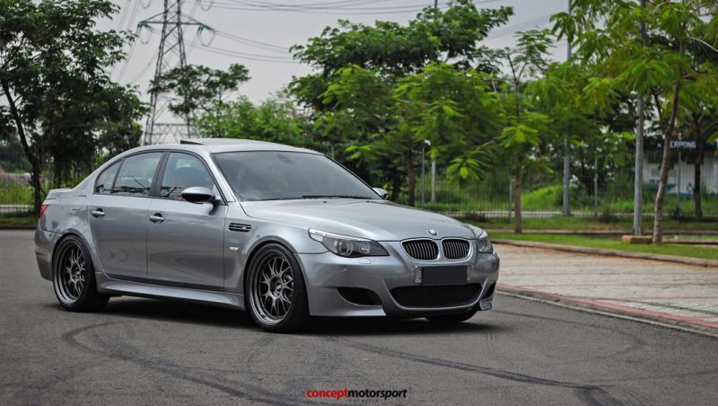 BMW M5 E60 V10 20 Zoll BBS LM R Tuning Concept Motorsport 2 BMW M5 E60 V10 auf 20 Zoll BBS LM R Alu's by Concept Motorsport