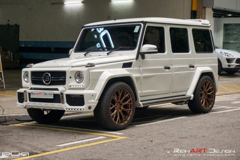 BRABUS Mercedes G55 AMG Wide Body RS02.M2 PUR Tuning 1 BRABUS Mercedes G55 AMG Wide Body auf RS02.M2 PUR Alu's