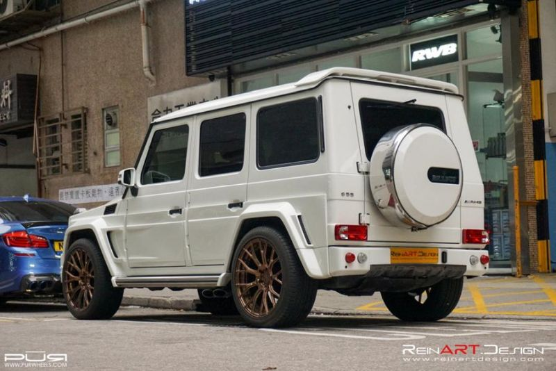 BRABUS Mercedes G55 AMG Wide Body RS02.M2 PUR Tuning 2 BRABUS Mercedes G55 AMG Wide Body auf RS02.M2 PUR Alu's