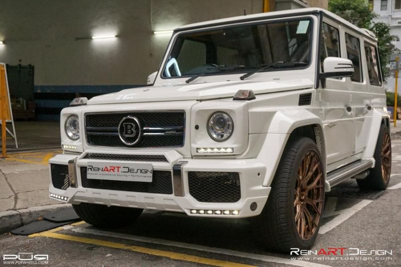 BRABUS Mercedes G55 AMG Wide Body RS02.M2 PUR Tuning 3 BRABUS Mercedes G55 AMG Wide Body auf RS02.M2 PUR Alu's