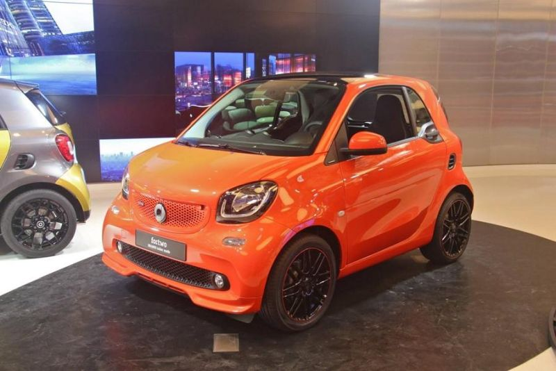 brabus smart 2016 fortwo forfour tuning 109ps 17. Black Bedroom Furniture Sets. Home Design Ideas