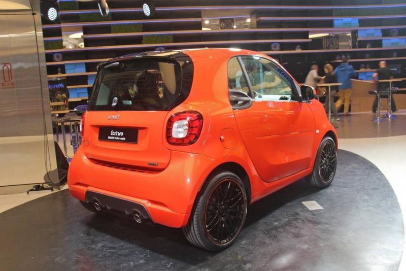 brabus smart 2016 fortwo forfour tuning 109ps 18. Black Bedroom Furniture Sets. Home Design Ideas