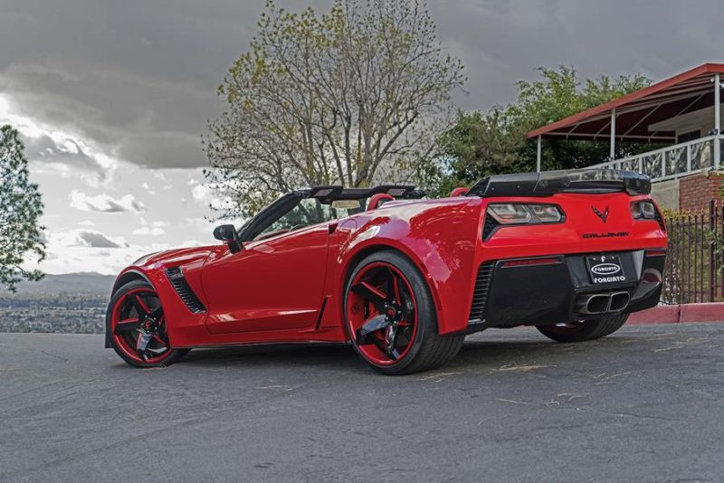 Callaway Corvette Z06 757PS Forgiato F2.21 ECL Tuning 4 Chevrolet Corvette Z06 mit 757PS und Forgiato Wheels Alu's