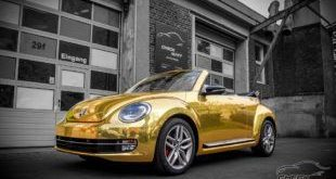 Check Matt Dortmund VW Beetle Cabrio Gold Chrom Folierung Tuning 2 1 e1460609467214 310x165 Retro Klassiker & Tuning? Der VW New Beetle machts möglich!
