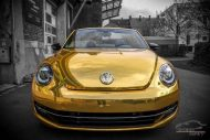 Check Matt Dortmund VW Beetle Cabrio Gold Chrom Folierung Tuning 4 190x127 Sehr cool   Check Matt Dortmund VW Beetle Cabrio in Gold
