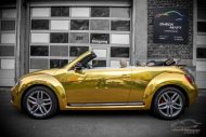 Check Matt Dortmund VW Beetle Cabrio Gold Chrom Folierung Tuning 6 190x127 Sehr cool   Check Matt Dortmund VW Beetle Cabrio in Gold