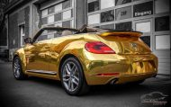 Check Matt Dortmund VW Beetle Cabrio Gold Chrom Folierung Tuning 7 190x119 Sehr cool   Check Matt Dortmund VW Beetle Cabrio in Gold