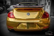 Check Matt Dortmund VW Beetle Cabrio Gold Chrom Folierung Tuning 9 190x127 Sehr cool   Check Matt Dortmund VW Beetle Cabrio in Gold