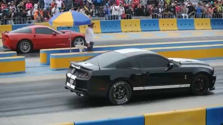 Corvette C6 Vs. Mustang Shelby GT500 Dragerace Tuning 1 1 Video: Chevrolet Corvette C6 gegen Ford Mustang Shelby GT500