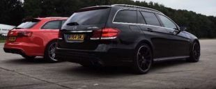Dragerace Audi RS6 C7 Avant vs. Mercedes AMG E63 S T Model 1 e1460691256278 310x128 Video: Dragerace   Audi RS6 C7 Avant vs. Mercedes AMG E63 S T Model