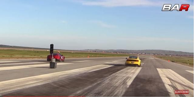 Dragerace Ford Shelby GT350 vs. Ferrari F12 Berlinetta Video: Dragerace   Ford Shelby GT350 vs. Ferrari F12 Berlinetta