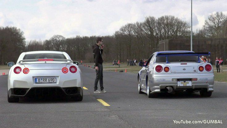 Dragerace GT R34 vs. Aventador LP700 4 vs. Switzer GT R Video: Dragerace   GT R34 vs. Aventador LP700 4 vs. Switzer GT R