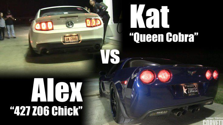 Dragerace Kat Queen Cobra gegen Alex 427 Z06 Chick Video: Dragerace   Kat Queen Cobra gegen Alex 427 Z06 Chick