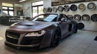 Folienwerk NRW Audi R8 Widebody Satin Grey Prior Design PD850GT Tuning 5 190x107 Folienwerk NRW Audi R8 Widebody in Satin Grey