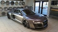 Folienwerk NRW Audi R8 Widebody Satin Grey Prior Design PD850GT Tuning 7 190x107 Folienwerk NRW Audi R8 Widebody in Satin Grey