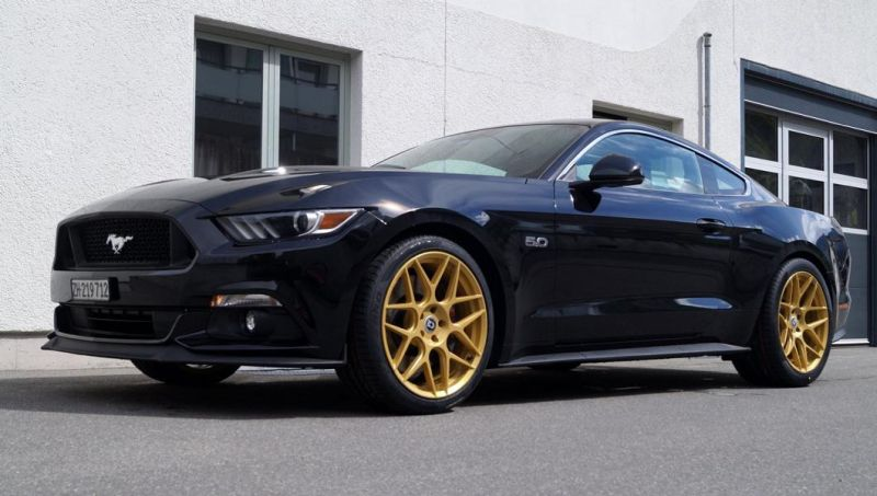 Ford Mustang GT 5.0 HRE FF01 cartech.ch Tuning 3 Ford Mustang GT 5.0 auf HRE FF01 Alu's by cartech.ch Tuning