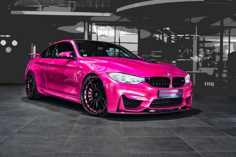 Hamann BMW M4 F82 Coupe Pink Folierung by tuningblog.eu  Hamann BMW M4 F82 Coupe   Pink Folierung by tuningblog.eu