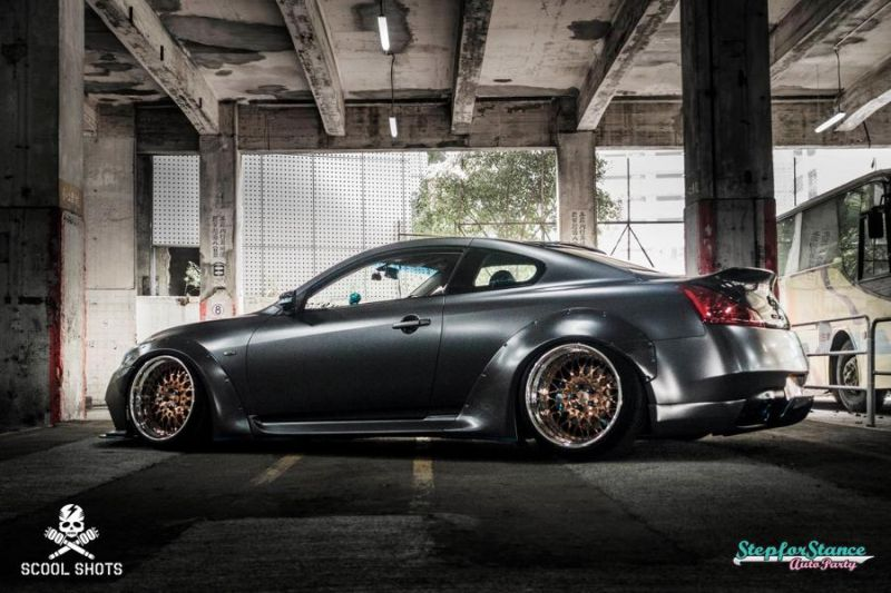 Liberty Walk Widebody Kit Infiniti G37 Q60 Tuning 2 Mega heftig   Liberty Walk Widebody Kit am Infiniti G37s
