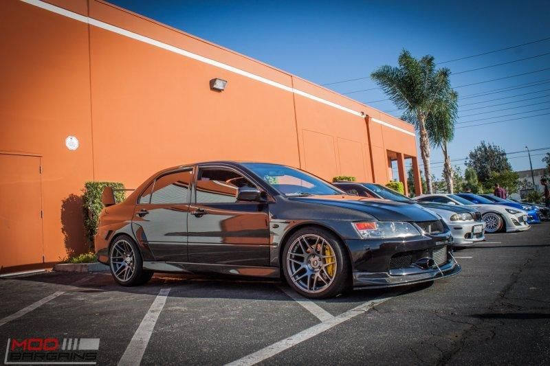 Mitsubishi Evo 9 IX Widebody Forgestar Alu%E2%80%99s by ModBargains 1 Mitsubishi Evo 9 (IX) Widebody auf Forgestar Alu's by ModBargains
