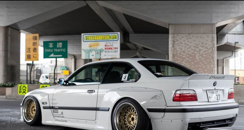 Pandem Rocket Bunny BMW E36 Widebody Enkei Tuning 1