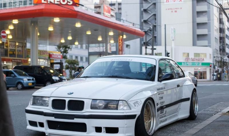 Pandem Rocket Bunny BMW E36 Widebody Enkei Tuning 3