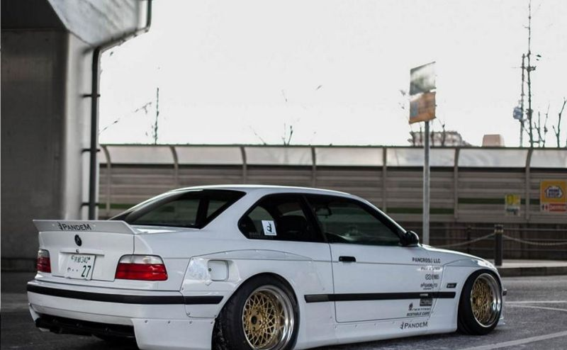 Pandem Rocket Bunny BMW E36 Widebody Enkei Tuning 5