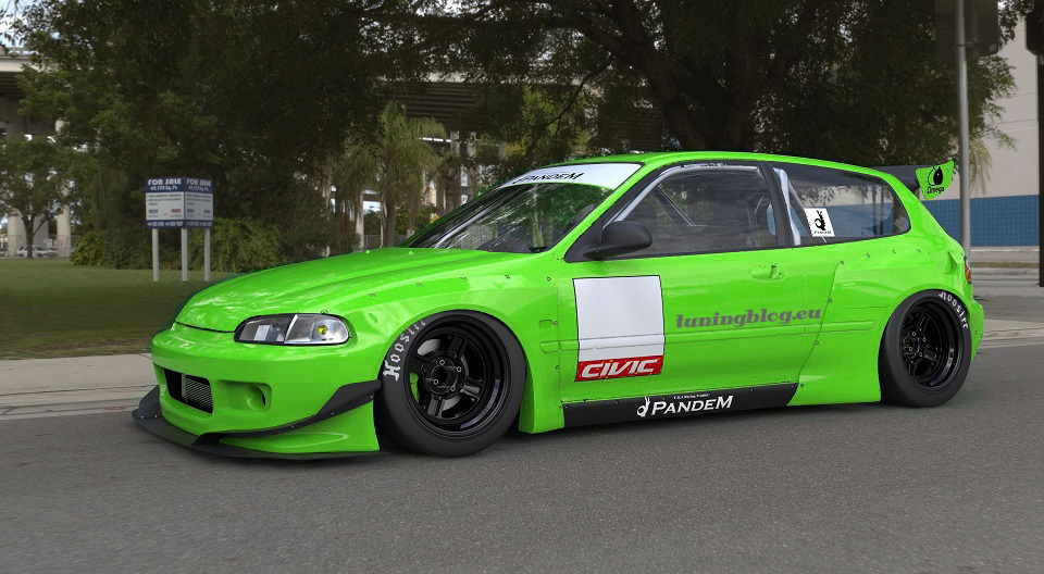 Pandem Rocket Bunny Widebodky Kit Honda Civic tuningblog.eu 1 Pandem Rocketbunny Honda Civic Widebody by tuningblog.eu