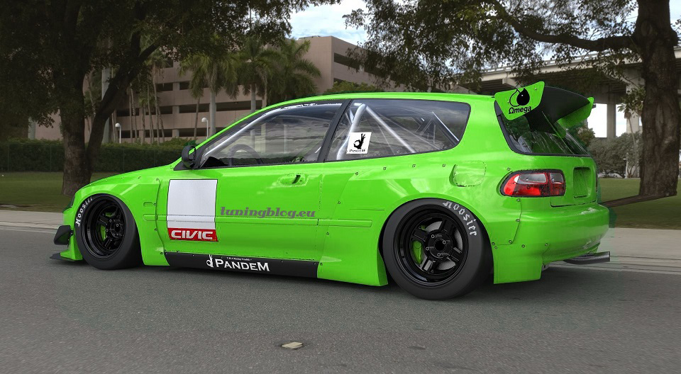 Pandem Rocket Bunny Widebodky Kit Honda Civic tuningblog.eu 2 Pandem Rocketbunny Honda Civic Widebody by tuningblog.eu