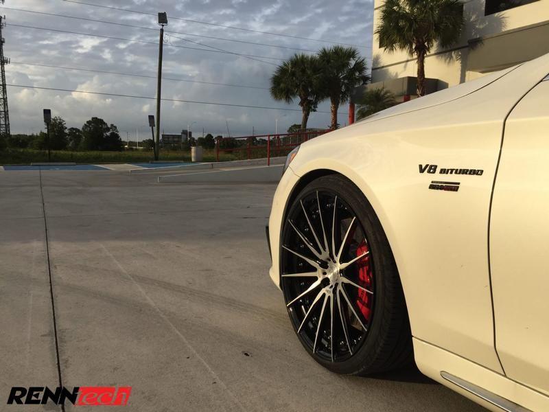 RENNtech Mercedes S63 AMG 22 Zoll ADV.1 Chiptuning 5 RENNtech Mercedes S63 AMG auf 22 Zoll ADV.1 Wheels
