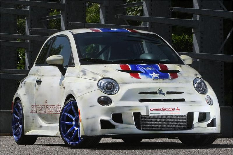 Romeos Ferraris Bilstein Fiat 500 210PS Tuningworld 1 Romeos Ferraris & Bilstein Fiat 500 mit 210PS zur Tuningworld