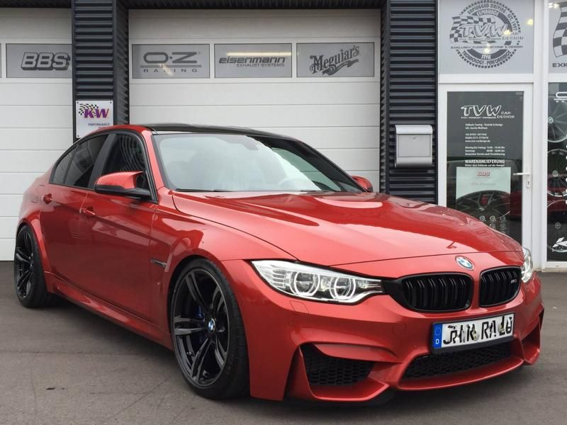 Sakhir Orange BMW M3 F80 TVW CAR DESIGN KW ST Tuning 3 Elegant   Sakhir Oranger BMW M3 F80 von TVW CAR DESIGN