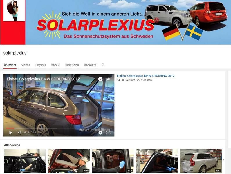 Solarplexius Youtube channel Videos Summertime Solarplexius Suns and privacy