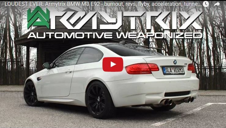 Soundcheck BMW E92 M3 Armytrix Sportauspuffanlage Video: Soundcheck   BMW E92 M3 mit Armytrix Sportauspuffanlage