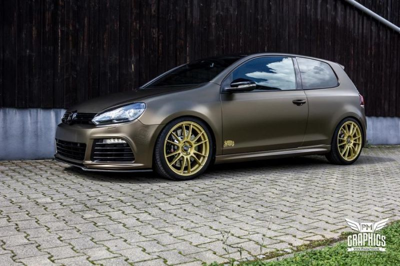 Tuning Bond Gold Matt Metallic VW Golf 6R SchwabenFolia 1 Bond Gold Matt Metallic VW Golf 6R by SchwabenFolia