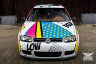 VW Golf 4 GTI Der Pop Art Golf SchwabenFolia MTCHBX DESIGNS Tuning 6 190x127 Crazy   VW Golf 4 GTI Der Pop Art Golf by SchwabenFolia