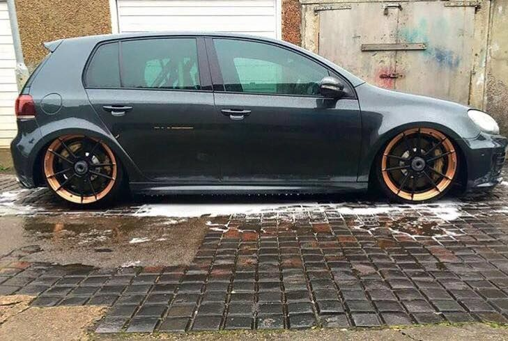 vw golf gti mk7 auf adv 1 wheels gepfeffert fahrwerk. Black Bedroom Furniture Sets. Home Design Ideas