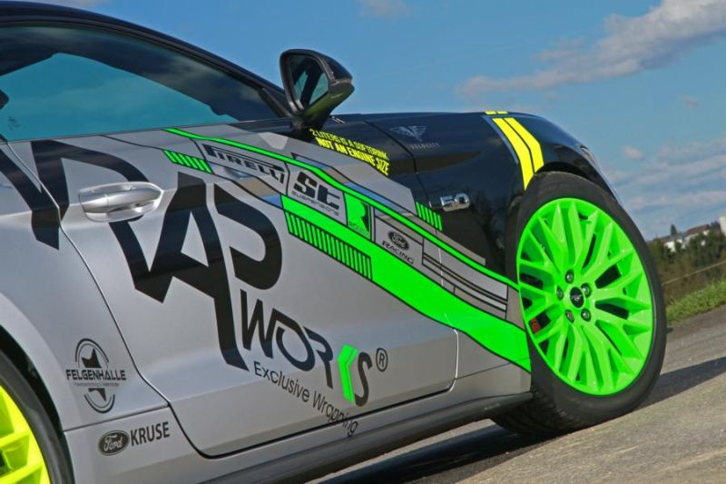 WRAPworks Folierung Ford Mustang GT Fastback Tuning Roush Performance 7