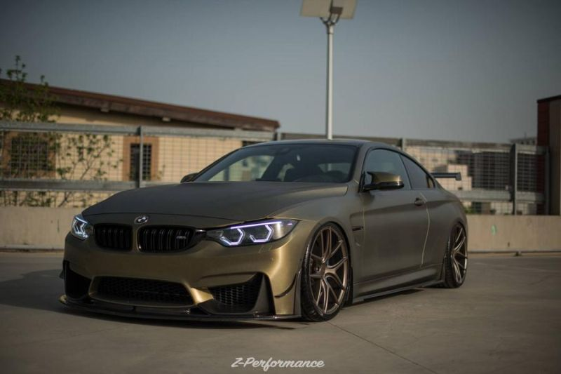 Z Performance Wheels ZP.NINE 21 Zoll BMW M4 F82 Tuning 6 Mega tief   Z Performance Wheels in 21 Zoll am BMW M4 F82