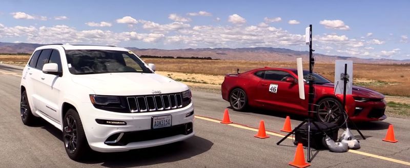 2016 Chevrolet Camaro SS vs. Jeep Grand Cherokee SRT Video: 2016 Chevrolet Camaro SS vs. Jeep Grand Cherokee SRT
