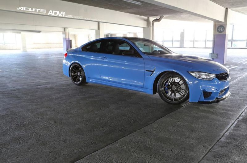 Acute Performance BMW M4 F82 Yas Marina Blau Tuning ADV.1 Wheels 2