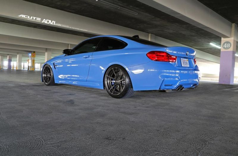 Acute Performance BMW M4 F82 Yas Marina Blau Tuning ADV.1 Wheels 4