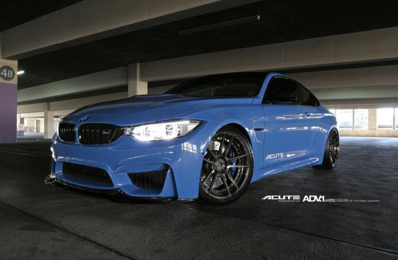 Acute Performance BMW M4 F82 Yas Marina Blau Tuning ADV.1 Wheels 6