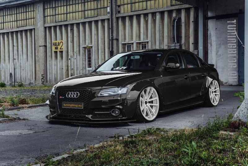 Audi A4 Rs4 B8 Liberty Widebody White Rims Tuning 1