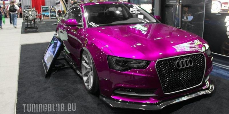 Audi A5 Rendering tuningblog.eu Wrapping Purple Slammed Pink Audi A5 Coupe in Pink glänzend by tuningblog.eu