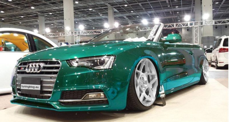 Tuningblog Eu Audi A4 S5 Convertible With Airride And Chromfolierung By