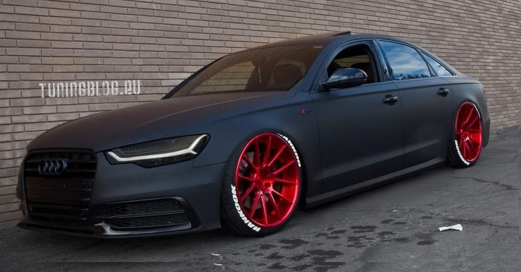Slammed Audi A6 C7 Limousine Auf Roten Alu S By Tuningblog