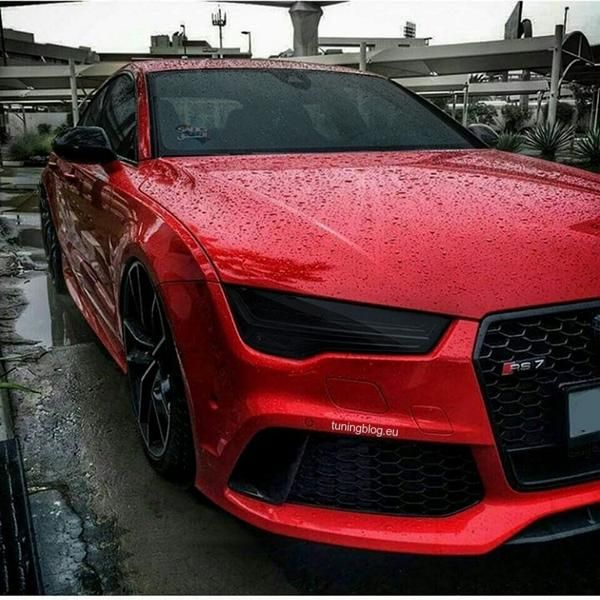 Tiefer Audi A7 Rs7 Sportback In Rot Von Tuningblog Eu